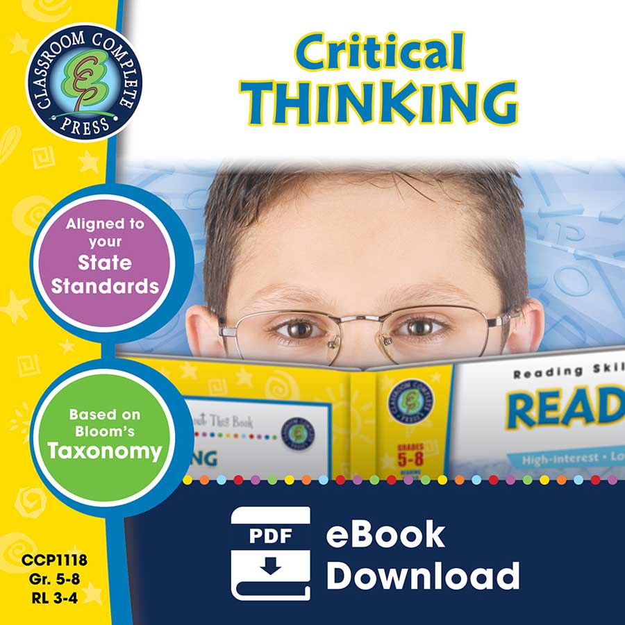 Critical Thinking Gr. 5-8 - eBook
