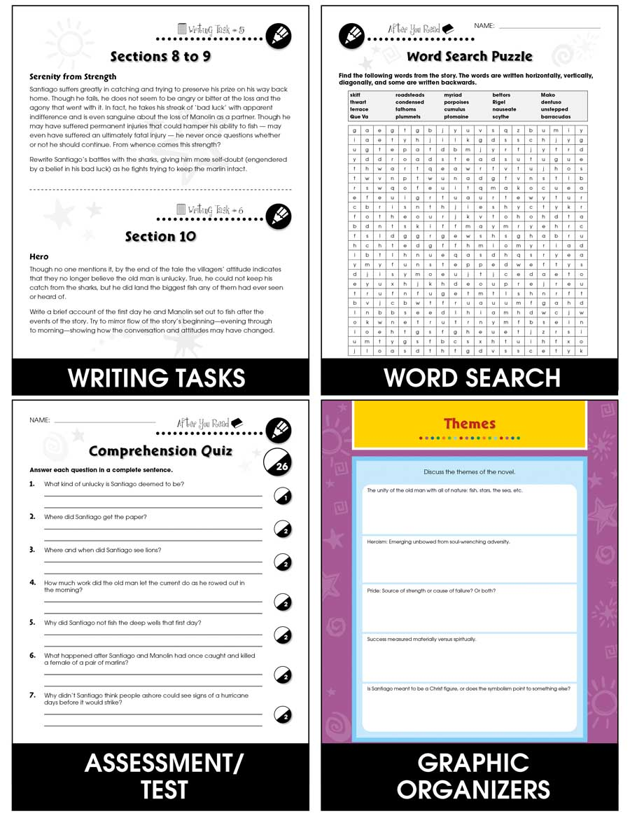 Graphic organizers for theme ebook array the old man and the sea novel study guide grades 9 to 12 ebook fandeluxe Choice Image
