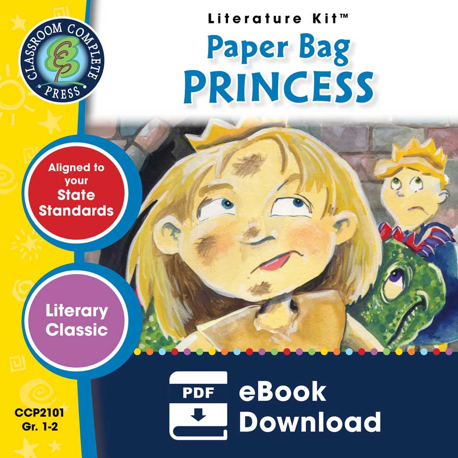 Paper Bag Princess Book Cover : Paper bag princess novel study guide grades to