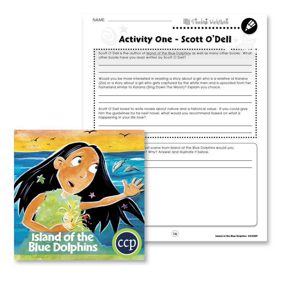 Island of the Blue Dolphins: Author Review Gr. 5-6 - WORKSHEETS - eBook