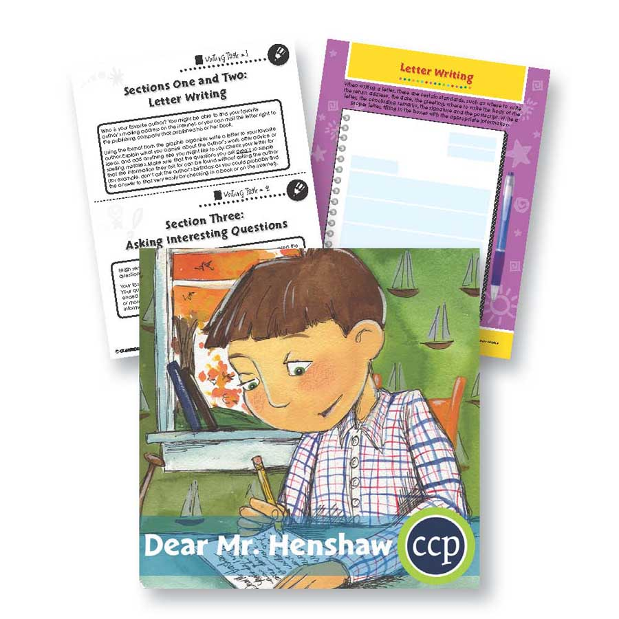 Dear Mr. Henshaw: Letter Writing Gr. 5-6 - WORKSHEETS - eBook