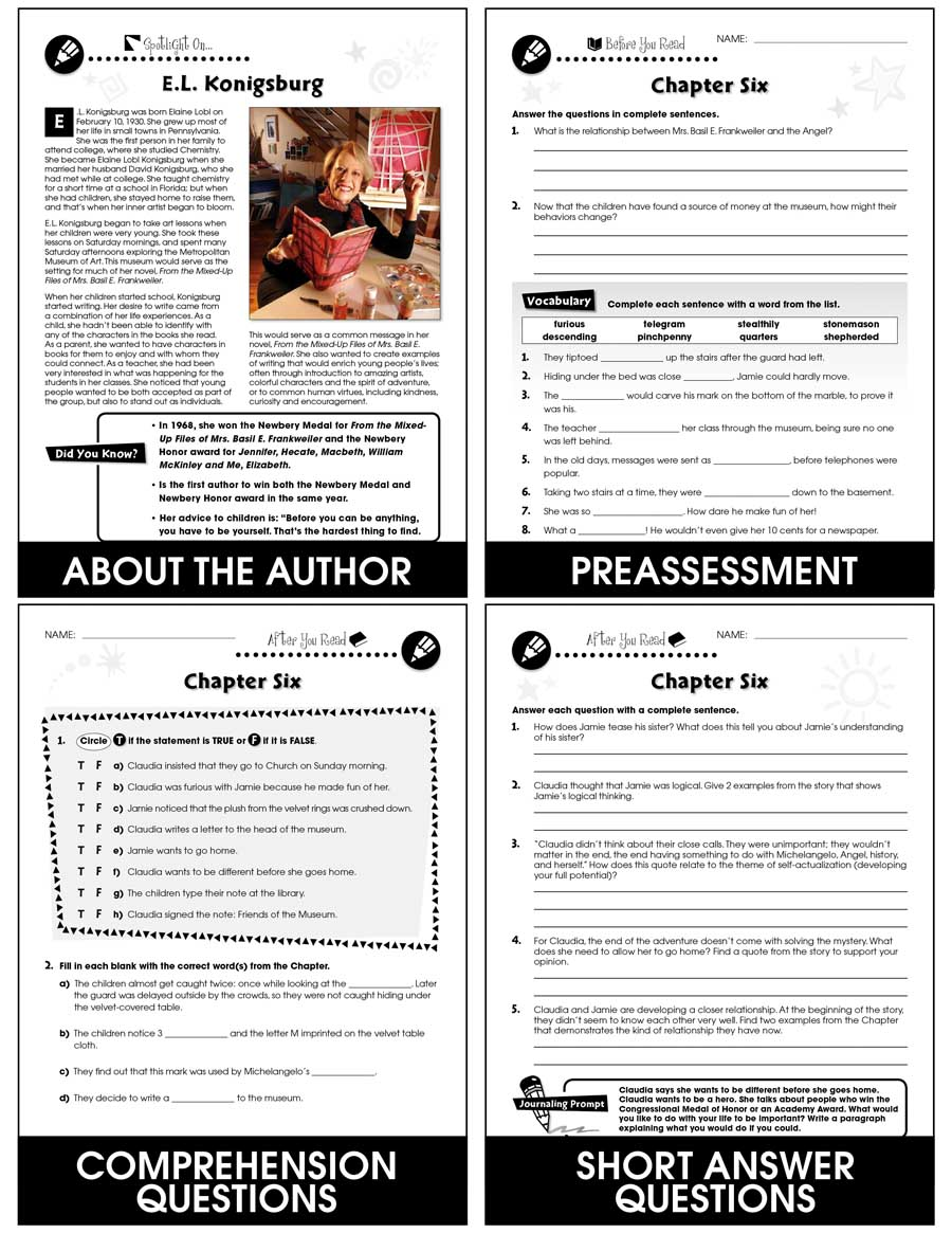 From the Mixed-Up Files of Mrs. Basil E. Frankweiler - Literature Kit Gr. 5-6 - eBook