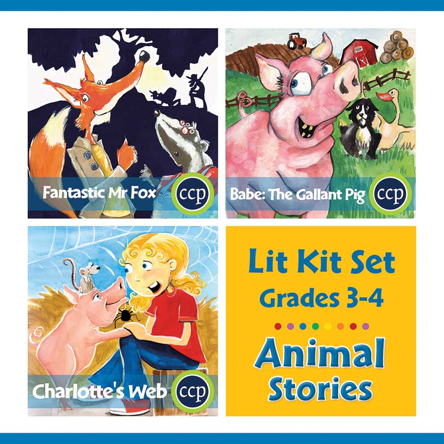 Animal Stories Lit Kit Set - Gr. 3-4 - eBook