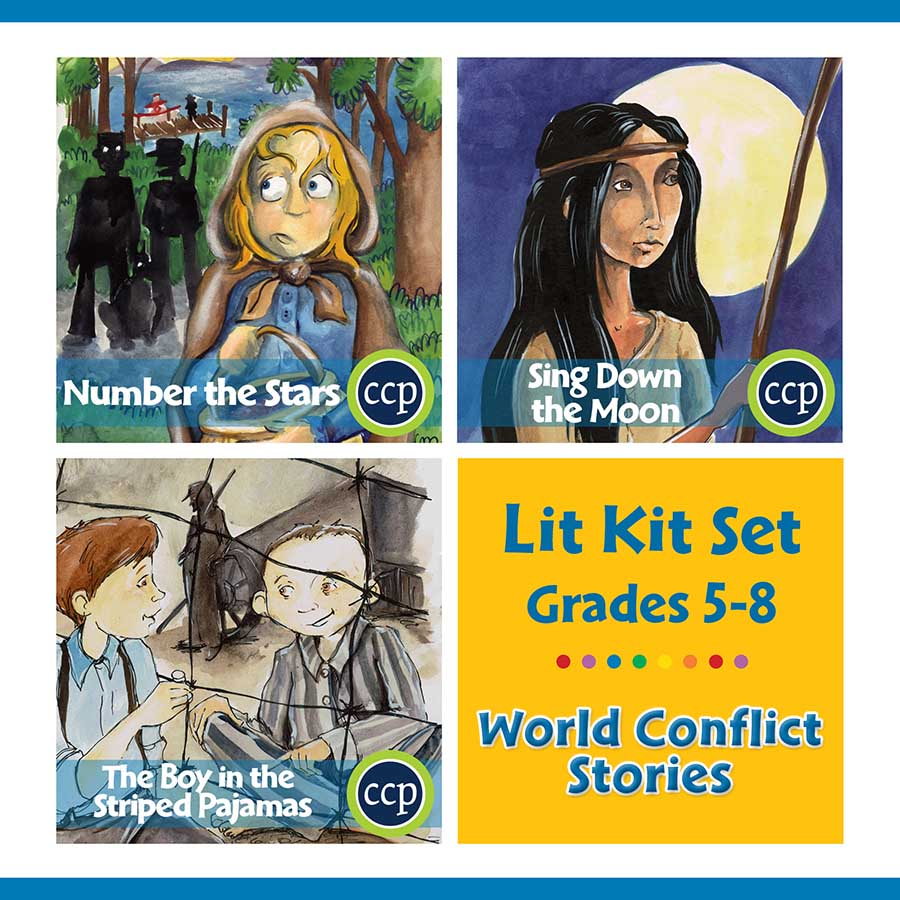 World Conflict Stories Lit Kit Set - Gr. 5-8 - eBook