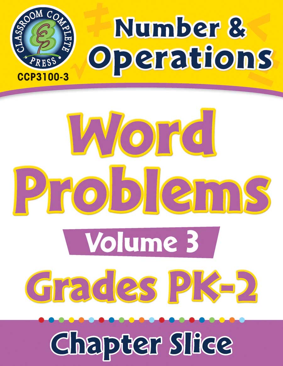 Number & Operations: Word Problems Vol. 3 Gr. PK-2 - Chapter Slice eBook