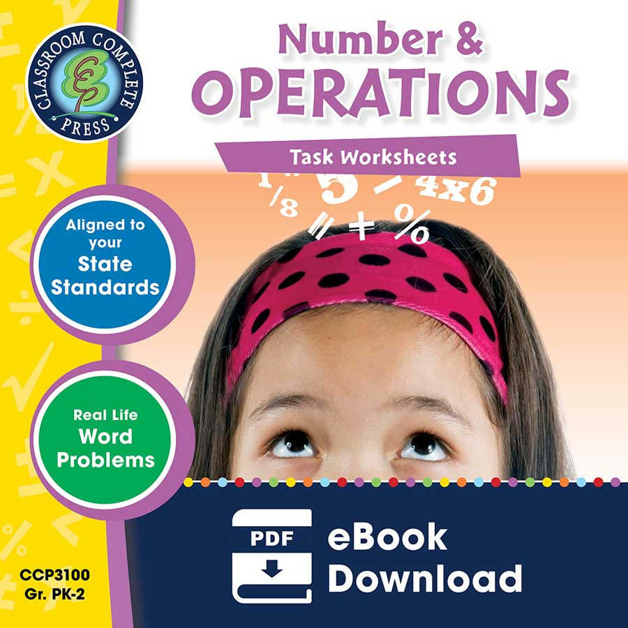 Number & Operations - Task Sheets Gr. PK-2 - eBook