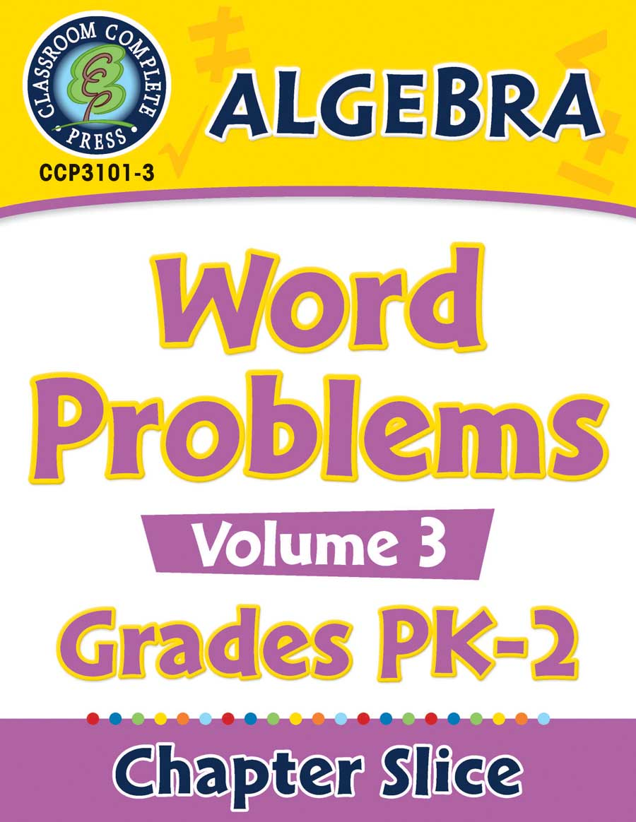 Algebra: Word Problems Vol. 3 Gr. PK-2 - Chapter Slice eBook