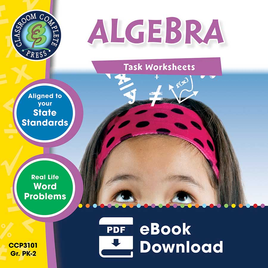 Algebra - Task Sheets Gr. PK-2 - eBook