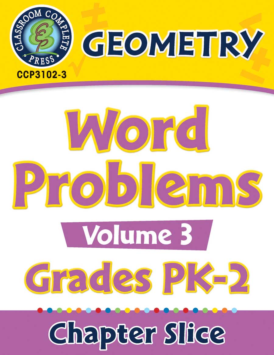 Geometry: Word Problems Vol. 3 Gr. PK-2 - Chapter Slice eBook