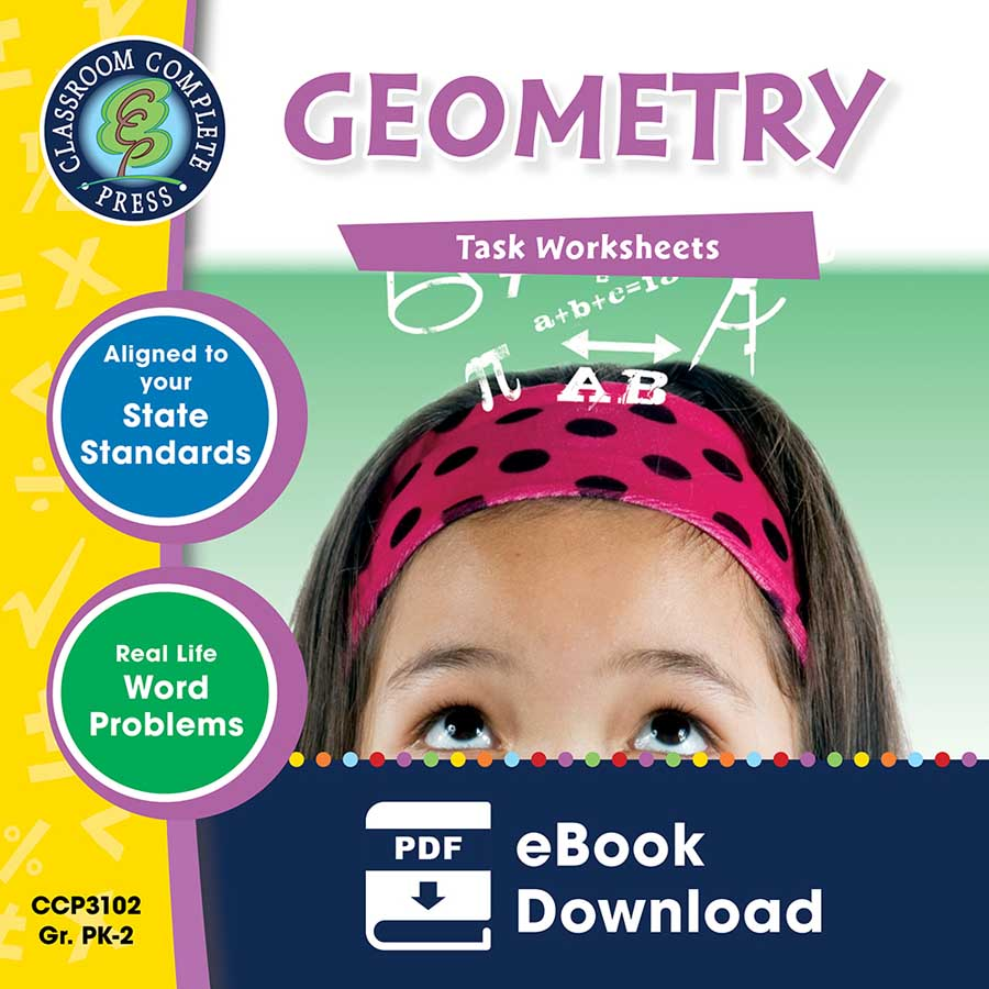 Geometry - Task Sheets Gr. PK-2 - eBook