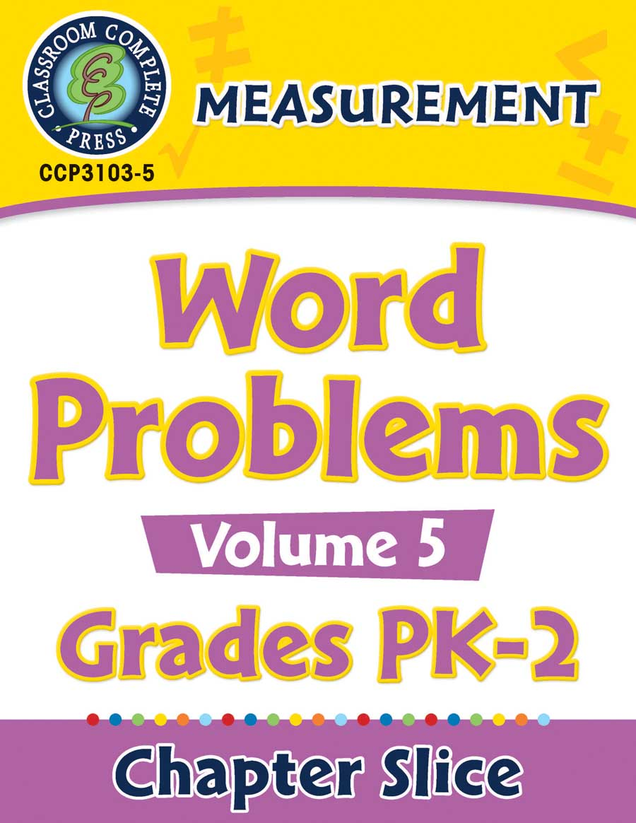 Measurement: Word Problems Vol. 5 Gr. PK-2 - Chapter Slice eBook