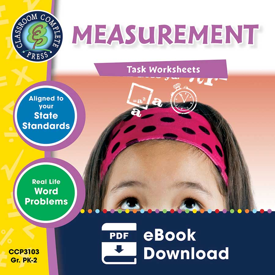 Measurement - Task Sheets Gr. PK-2 - eBook