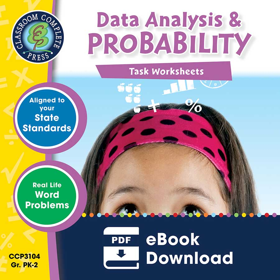 Data Analysis & Probability - Task Sheets Gr. PK-2 - eBook