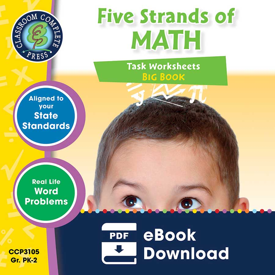 Five Strands of Math - Tasks  Big Book Gr. PK-2 - eBook