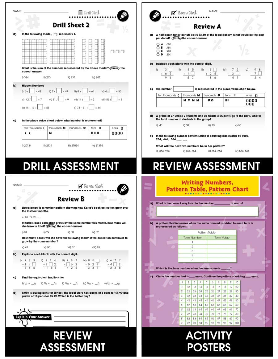 Number & Operations - Task Sheets Gr. 3-5 - eBook