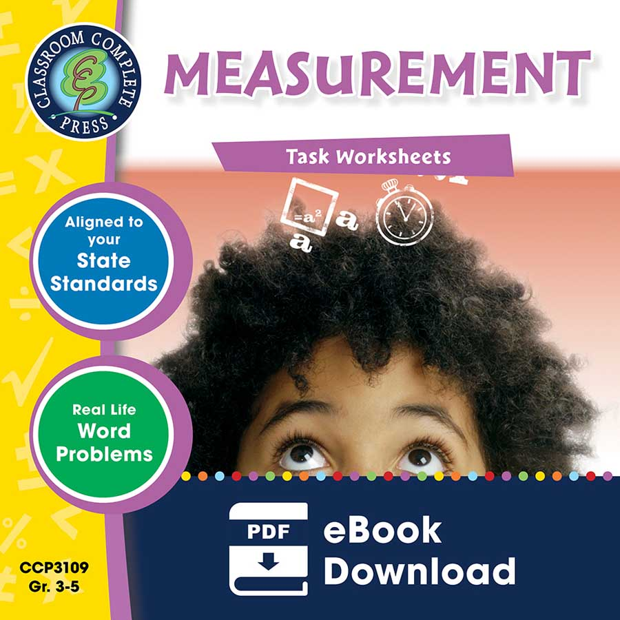 Measurement - Task Sheets Gr. 3-5 - eBook