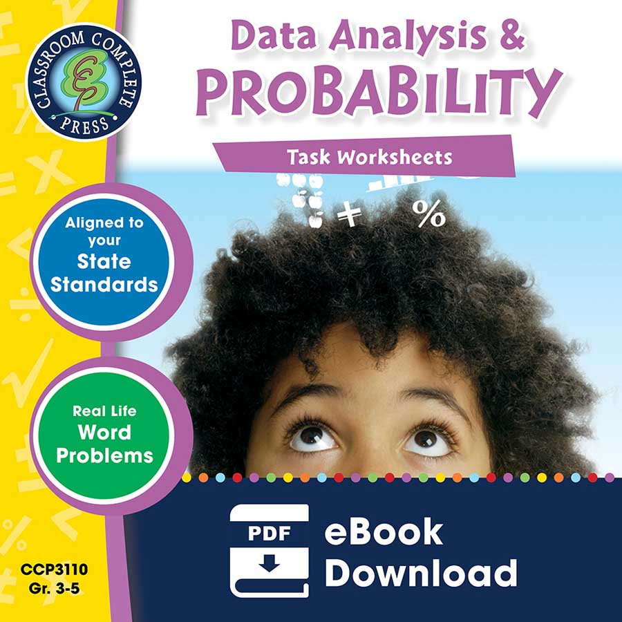 Data Analysis & Probability - Task Sheets Gr. 3-5 - eBook