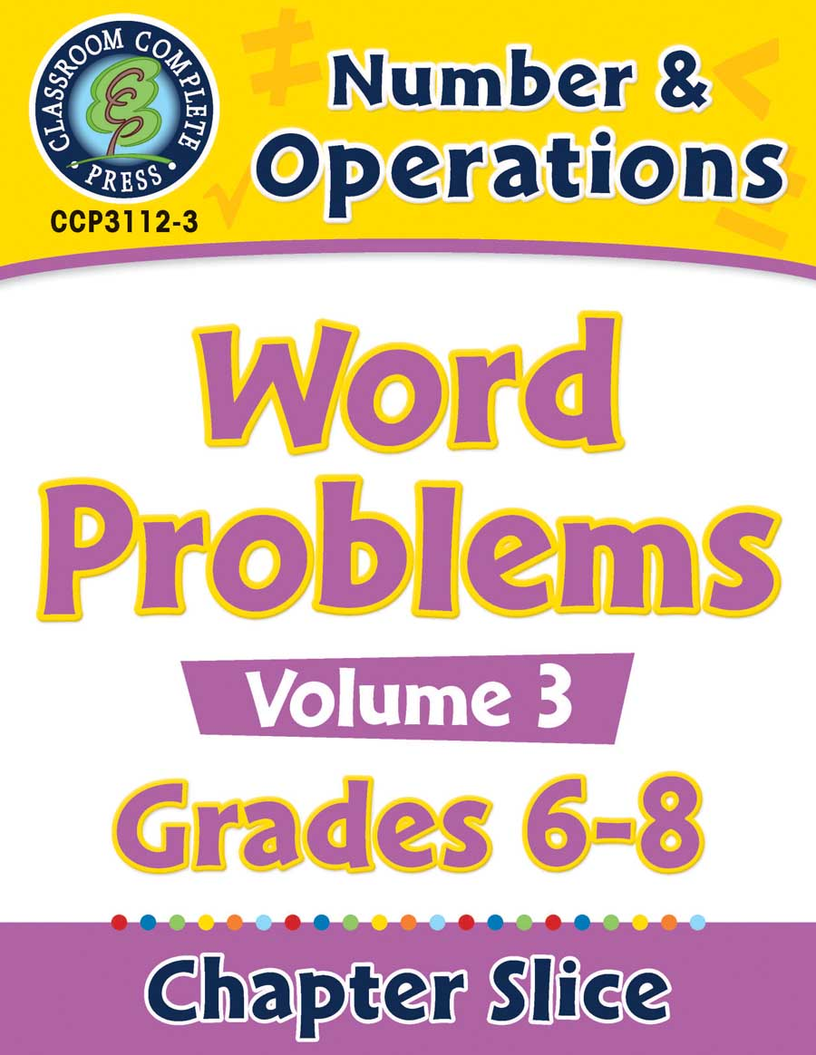 Number & Operations - Task Sheets Vol. 3 Gr. 6-8 - Chapter Slice eBook