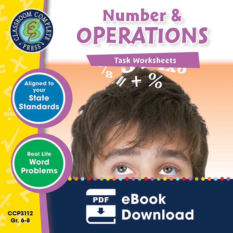 Number & Operations - Task Sheets Gr. 6-8 - eBook