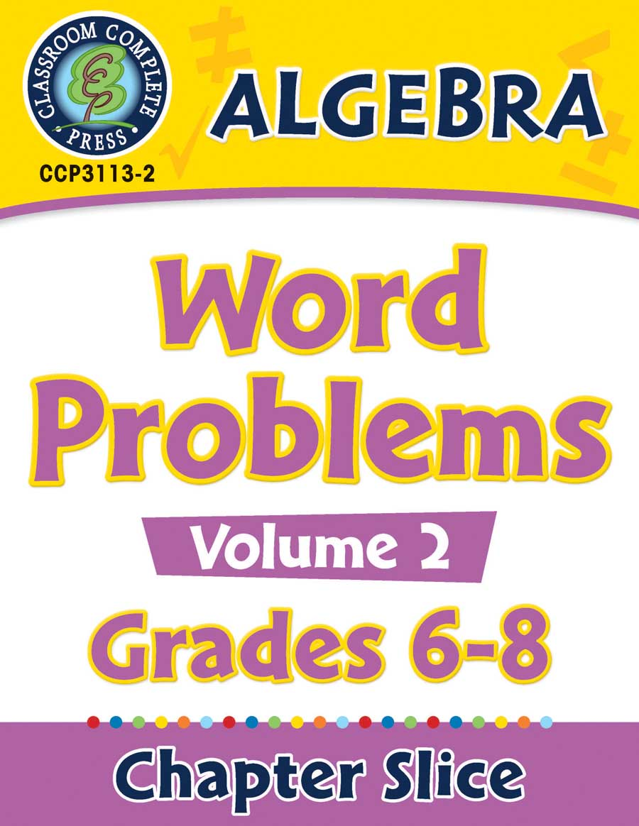 Algebra - Task Sheets Vol. 2 Gr. 6-8 - Chapter Slice eBook