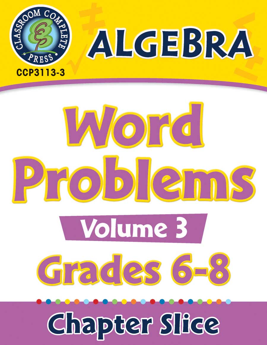 Algebra - Task Sheets Vol. 3 Gr. 6-8 - Chapter Slice eBook