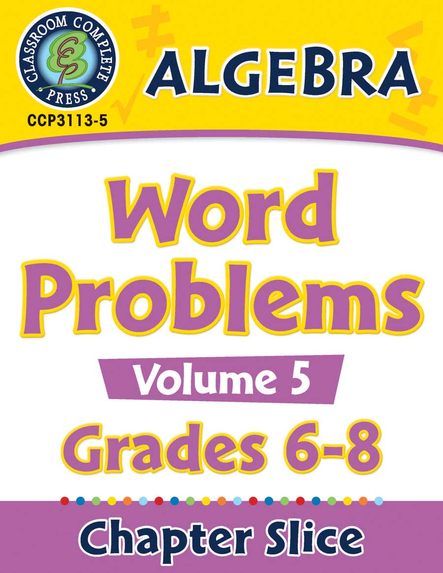 Algebra - Task Sheets Vol. 5 Gr. 6-8 - Chapter Slice eBook
