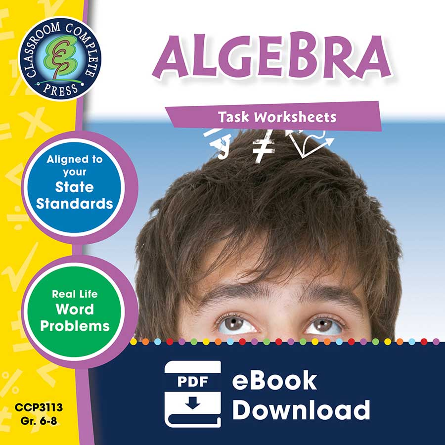 Algebra - Task Sheets Gr. 6-8 - eBook