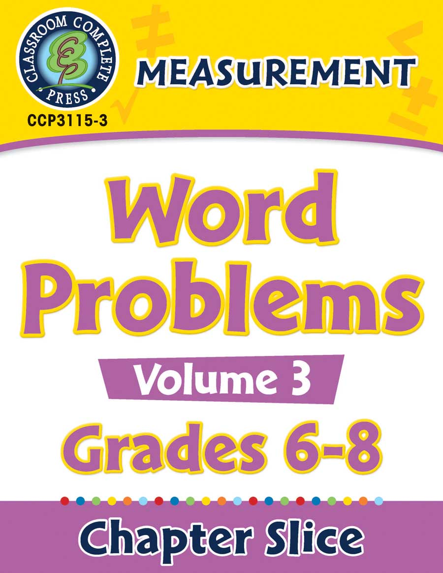 Measurement - Task Sheets Vol. 3 Gr. 6-8 - Chapter Slice eBook