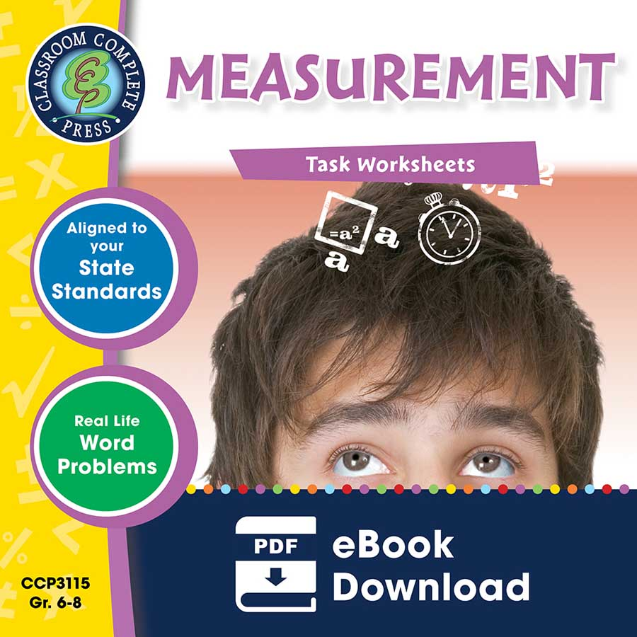 Measurement - Task Sheets Gr. 6-8 - eBook