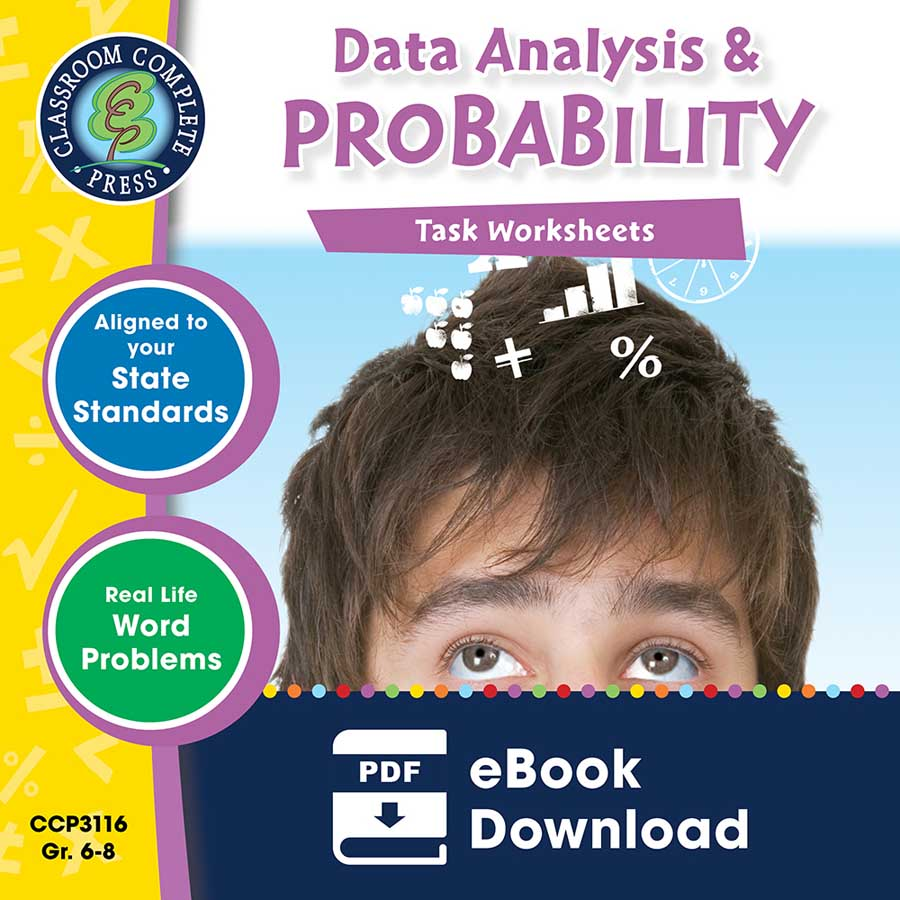 Data Analysis & Probability - Task Sheets Gr. 6-8 - eBook