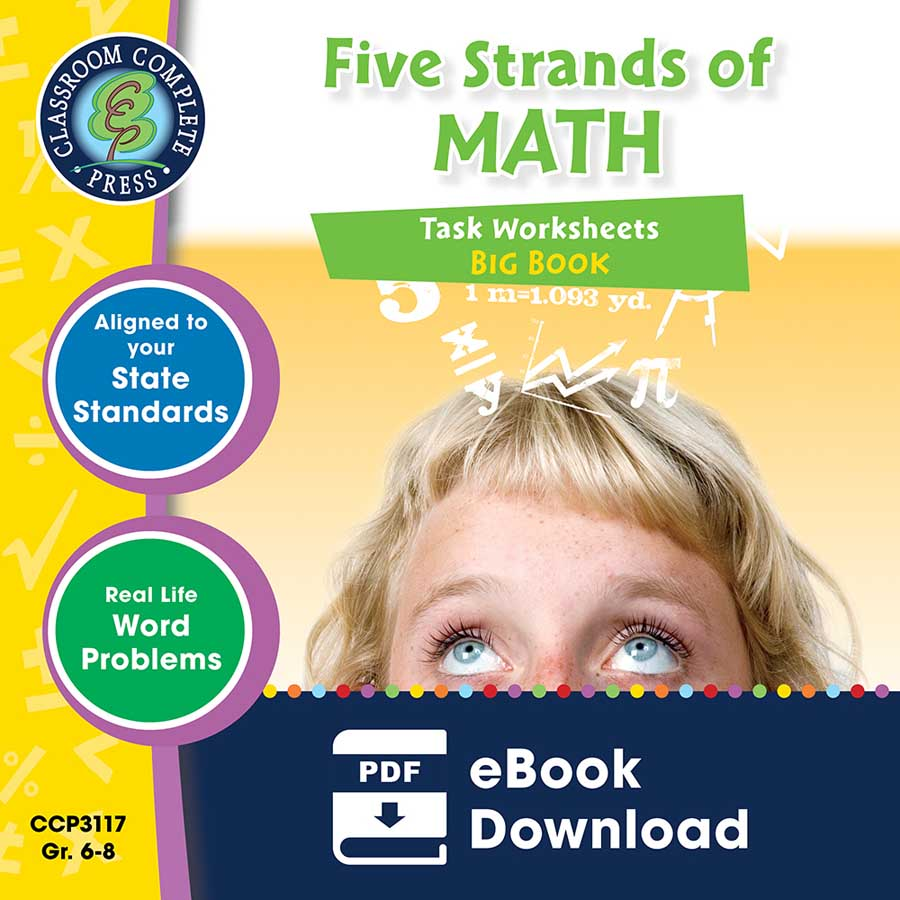 Five Strands of Math - Tasks  Big Book Gr. 6-8 - eBook