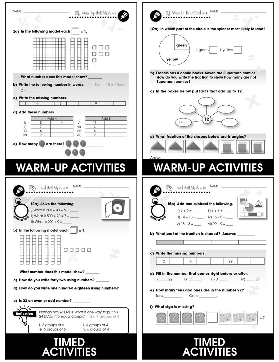 Number & Operations - Drill Sheets Gr. PK-2 - eBook