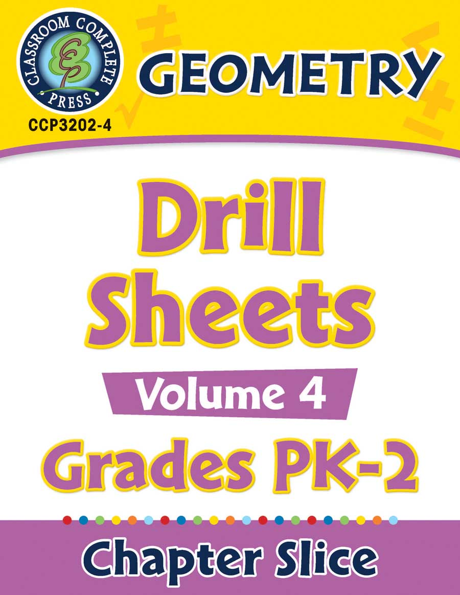 Geometry - Drill Sheets Vol. 4 Gr. PK-2 - Chapter Slice eBook