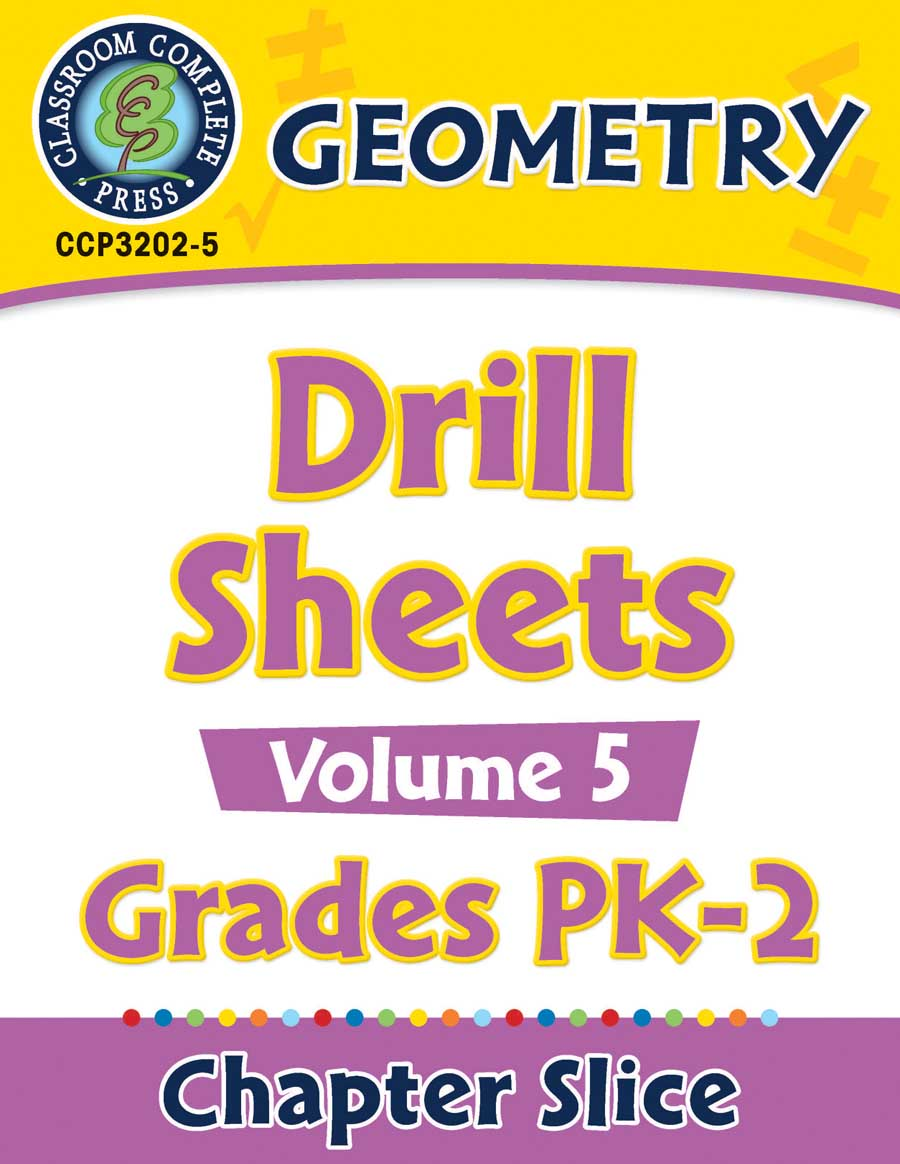 Geometry - Drill Sheets Vol. 5 Gr. PK-2 - Chapter Slice eBook