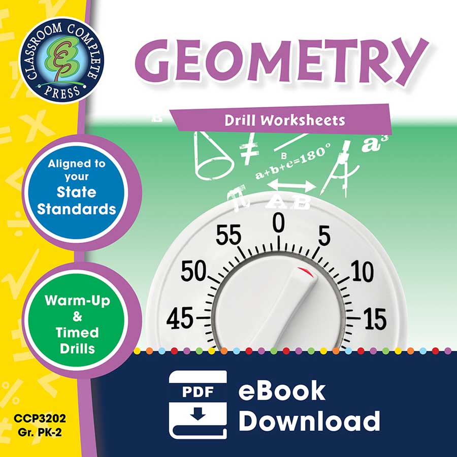 Geometry - Drill Sheets Gr. PK-2 - eBook