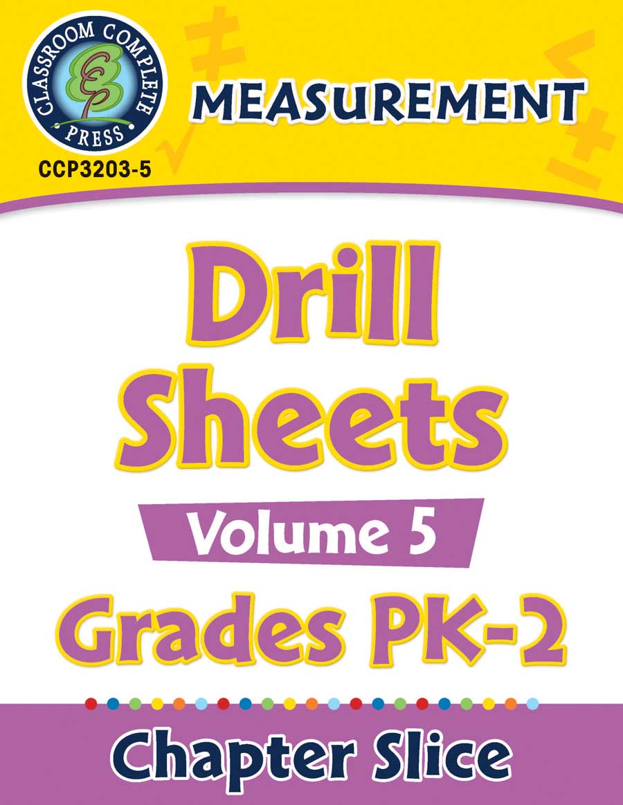Measurement - Drill Sheets Vol. 5 Gr. PK-2 - Chapter Slice eBook