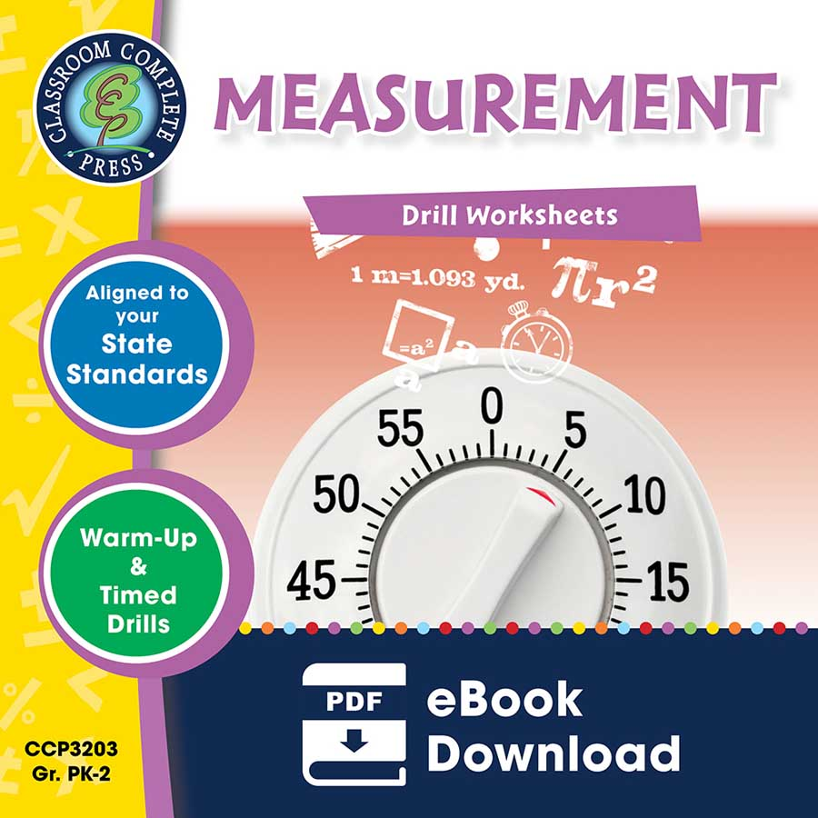 Measurement - Drill Sheets Gr. PK-2 - eBook