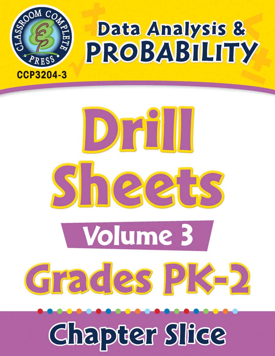 Data Analysis & Probability - Drill Sheets Vol. 3 Gr. PK-2 - Chapter Slice eBook