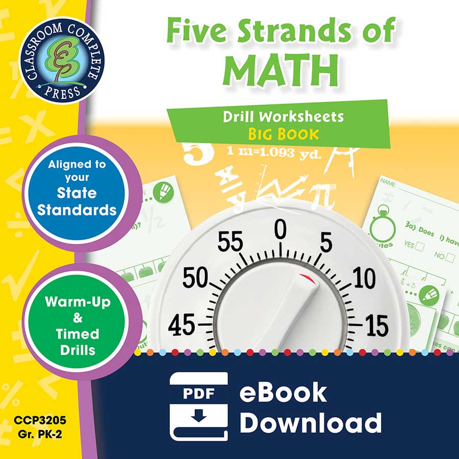Five Strands of Math - Drills Big Book Gr. PK-2 - eBook