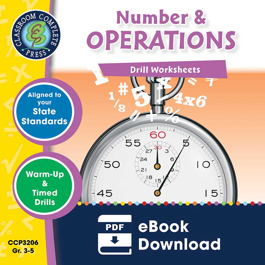 Number & Operations - Drill Sheets Gr. 3-5 - eBook