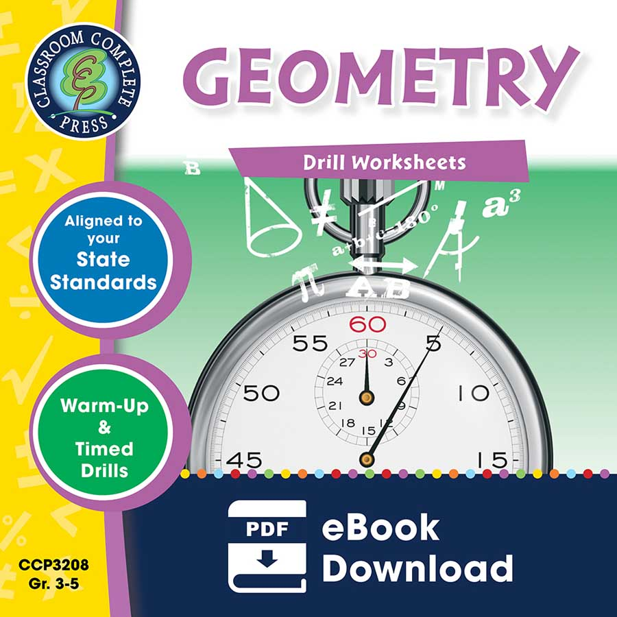 Geometry - Drill Sheets Gr. 3-5 - eBook