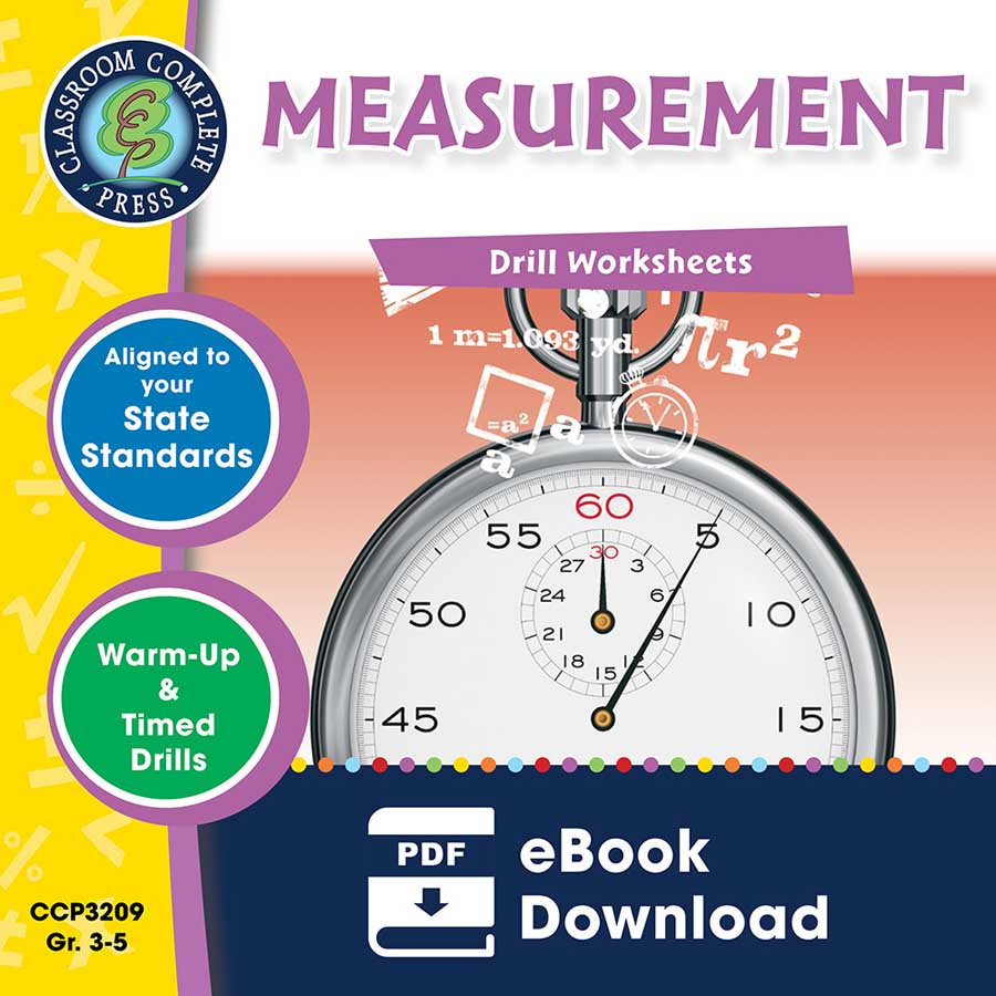 Measurement - Drill Sheets Gr. 3-5 - eBook