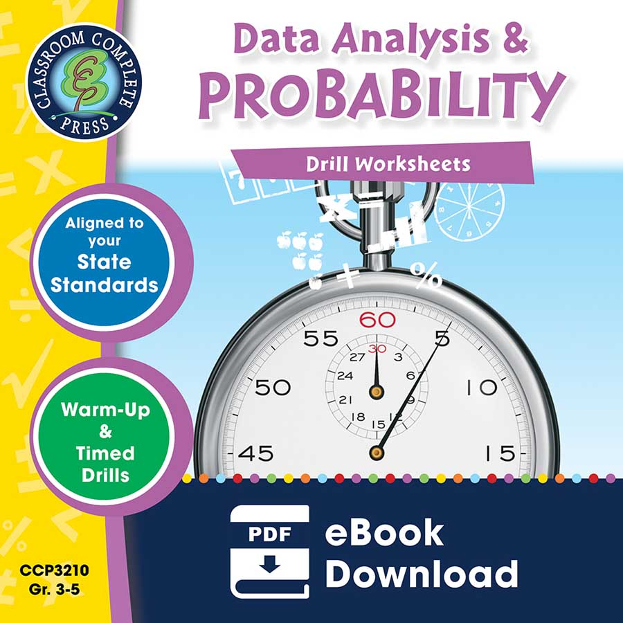 Data Analysis & Probability - Drill Sheets Gr. 3-5 - eBook