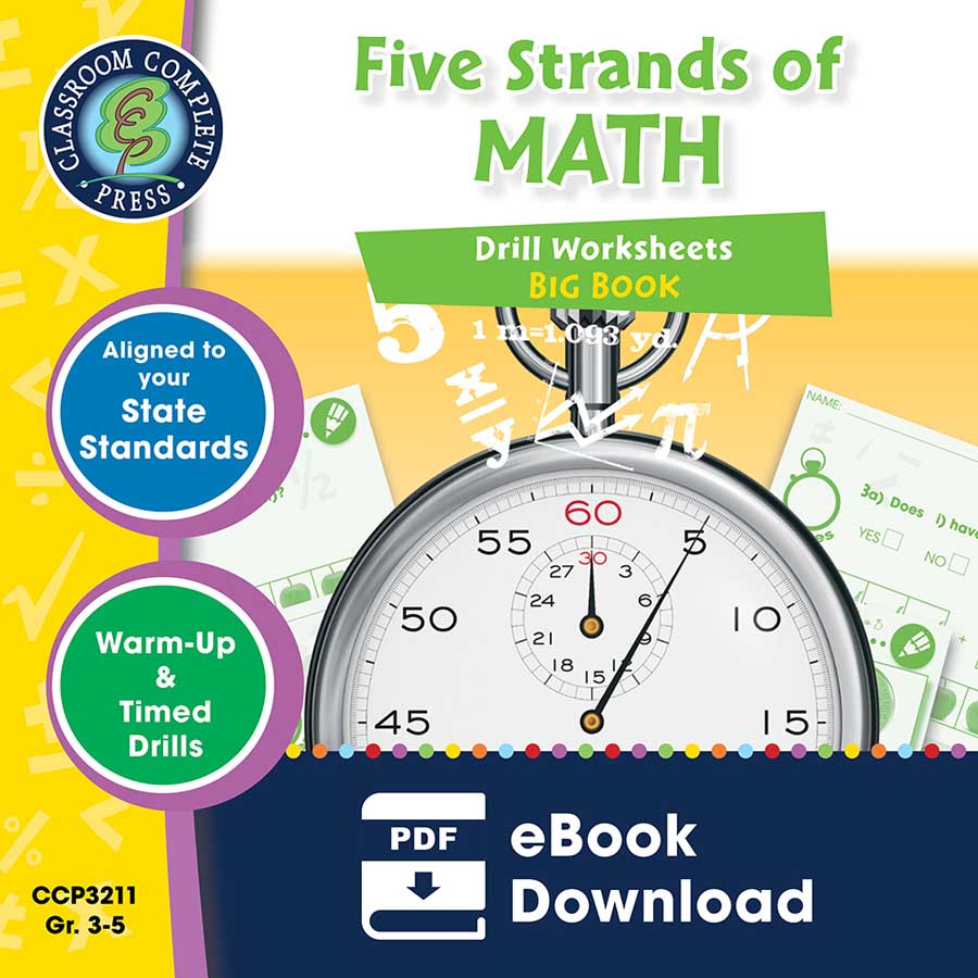 Five Strands of Math - Drills Big Book Gr. 3-5 - eBook
