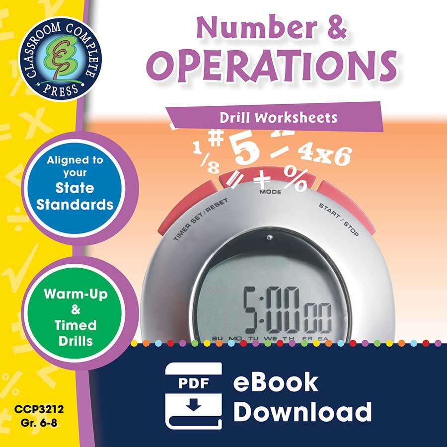 Number & Operations - Drill Sheets Gr. 6-8 - eBook