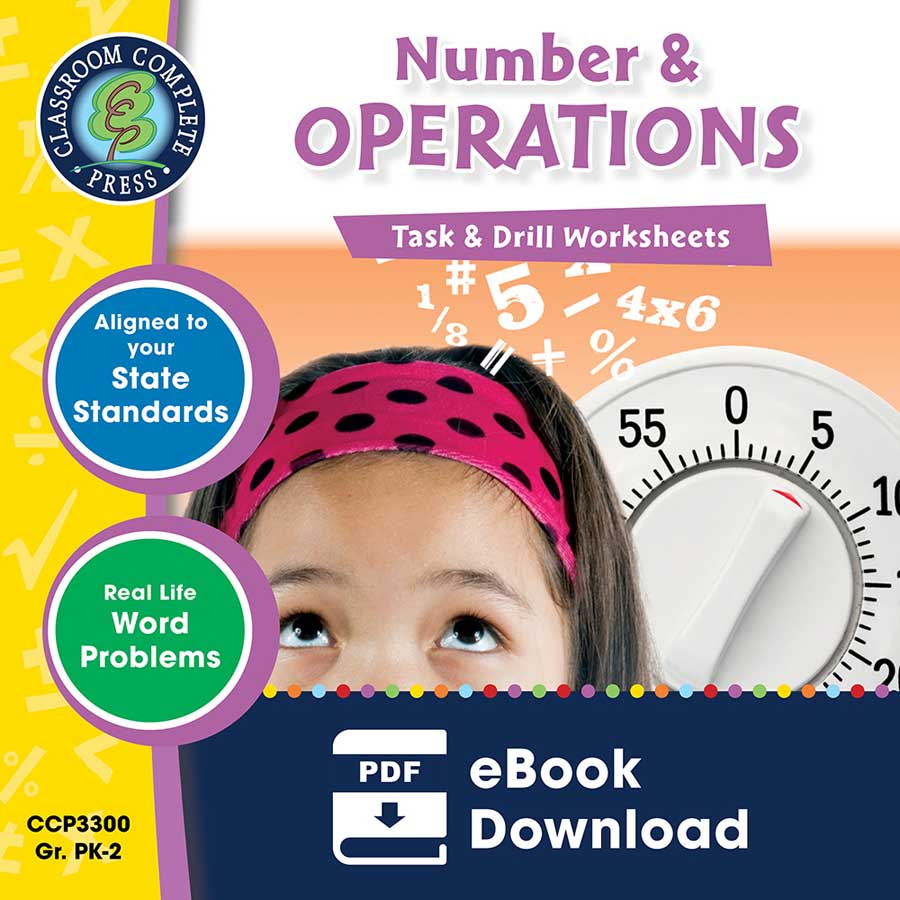 Number & Operations - Task & Drill Sheets Gr. PK-2 - eBook