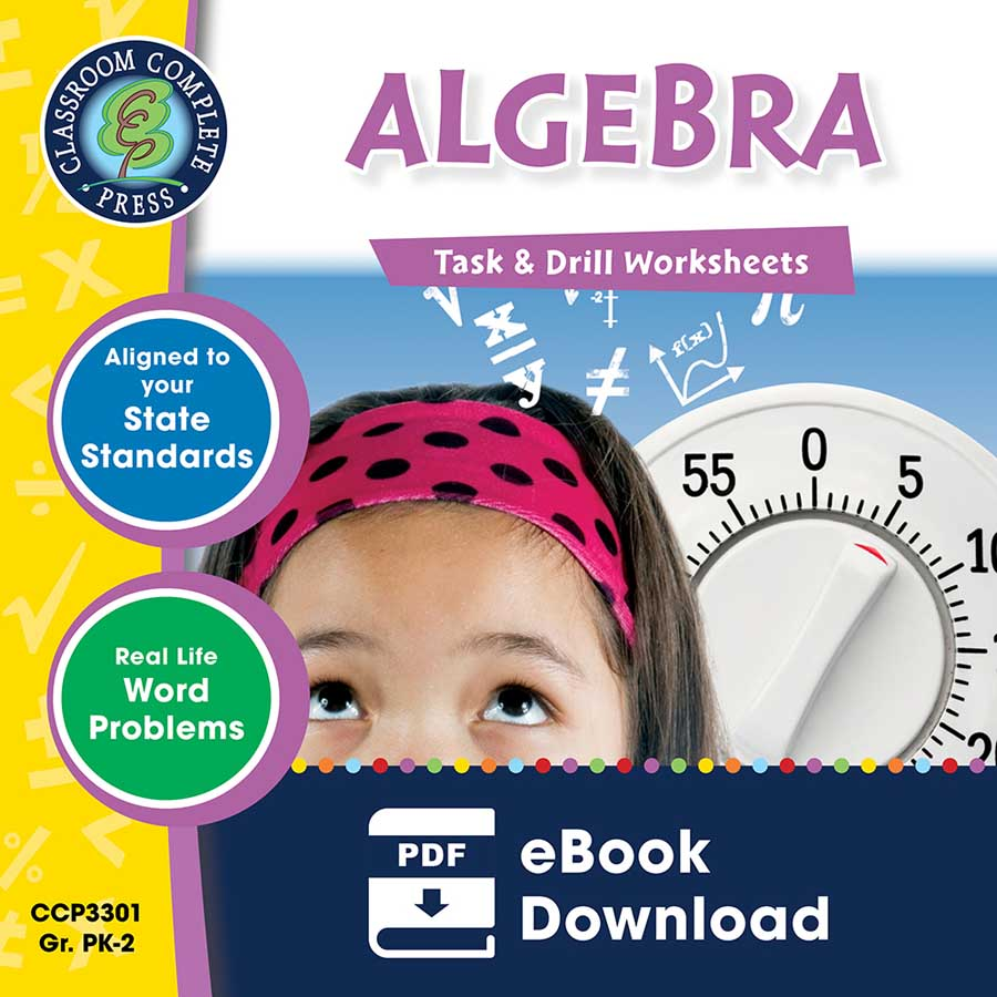 Algebra - Task & Drill Sheets Gr. PK-2 - eBook
