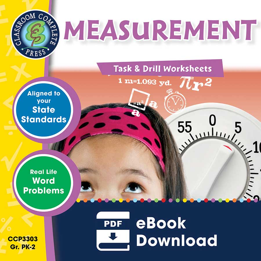 Measurement - Task & Drill Sheets Gr. PK-2 - eBook