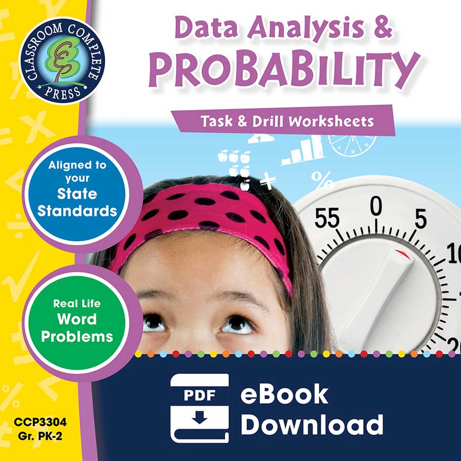 Data Analysis & Probability - Task & Drill Sheets Gr. PK-2 - eBook