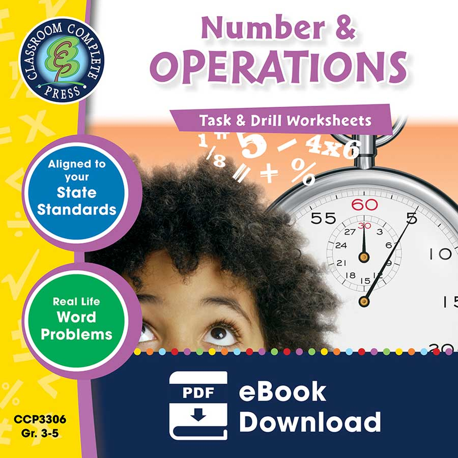 Number & Operations - Task & Drill Sheets Gr. 3-5 - eBook